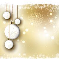 Jul bakgrund med kulor vektor