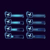 Satz von GUI Fantasie RPG Klinge Schwert Fortschrittsbalken für Spiel UI Asset Elemente Vektor-Illustration vektor