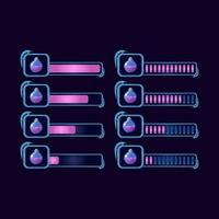 Satz von GUI Fantasie RPG Trank magische Flasche Fortschrittsbalken für Spiel UI Asset Elemente Vektor-Illustration vektor