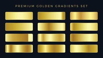 Premium goldene Farbverläufe eingestellt vektor