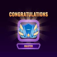 Spiel UI rangiert bis Master Interface Vektor-Illustration vektor