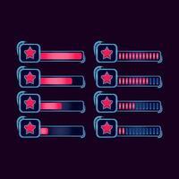 Satz von GUI Fantasie RPG Stern Fortschrittsbalken für Spiel UI Asset Elemente Vektor-Illustration vektor
