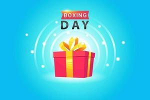 boxning dag affisch design vektor