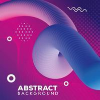 abstrakt bakgrund med levande färgglada vågor flöde vektor