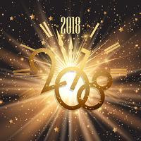 Guten Rutsch ins Neue Jahr-Hintergrund mit glühenden Lichtern und Sternen