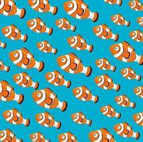 Clownfischmusterhintergrund vektor