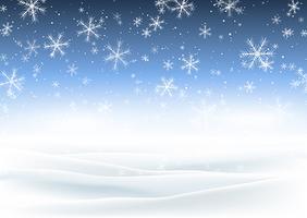 Jul snöig landskap vektor