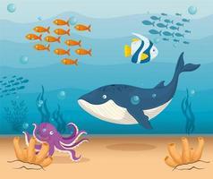 havet liv bakgrund vektor