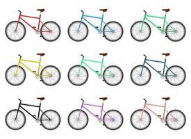 Fahrrad Clipart Vektor Design Illustration Set