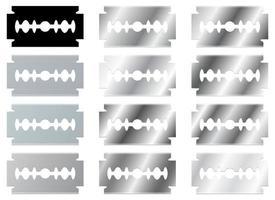Rasierklinge Vektor Design Illustration Set isoliert auf weißem Hintergrund