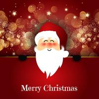 Gullig Santa på Bokeh ljus bakgrund vektor