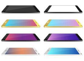 uppsättning illustration för design för smartphone-enhet isolerad på vit bakgrund