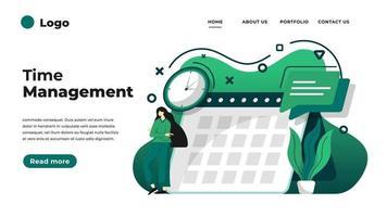 moderne flache Designillustration des Zeitmanagements. vektor