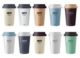 Kaffeetasse Modell Vektor-Design-Illustration lokalisiert auf weißem Hintergrund vektor