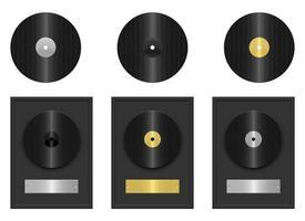 Vinylaufzeichnungsvektorentwurfsillustration lokalisiert auf weißem Hintergrund vektor