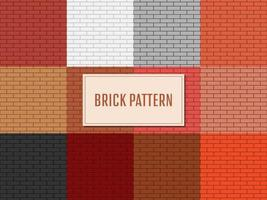 Backsteinmauer Muster Vektor Design Illustration