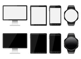 digital enhet vektor design illustration uppsättning isolerad på vit bakgrund
