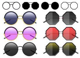 Vektorentwurfillustration der Hipster-Sonnenbrille lokalisiert auf weißem Hintergrund vektor