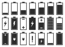 Batterie flache Symbol Vektor-Design-Illustration lokalisiert auf weißem Hintergrund vektor