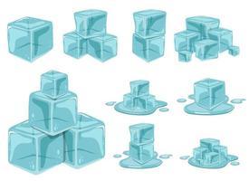 Eiswürfelvektorentwurfsillustration lokalisiert auf weißem Hintergrund vektor