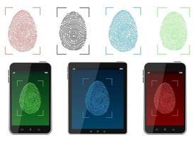 entsperren Fingerabdruck-Scan-Vektor-Design-Illustration lokalisiert auf weißem Hintergrund vektor