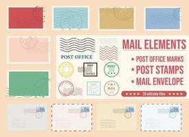 Post Briefmarken Vektor Design Illustration auf Hintergrund isoliert