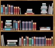 bokhyllor med böcker vektor