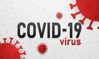 Covid-19-Virus-Design-Textelement. Vektorillustration