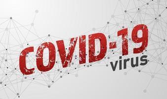 Verbreitung des Covid-19-Virus. Design mit Textelement. Vektorillustration