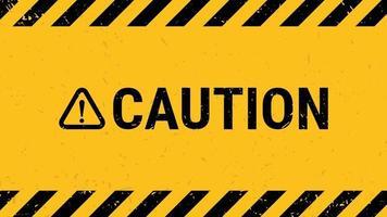 varningstecken med svart gul randig bannervägg. vektor illustration