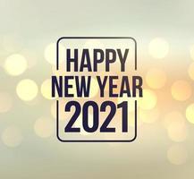 Feier frohes neues Jahr 2021 Gruß Vektor-Illustration Design bearbeitbare Größenänderung EPS 10 vektor