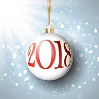 Frohes neues Jahr Spielerei Hintergrund vektor