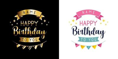 Grattis på födelsedagen vektor
