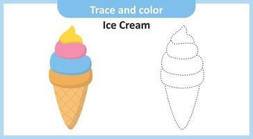 spår och färg glass vektor