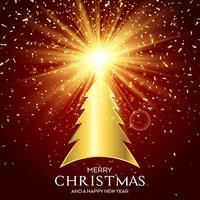 Gyllene julgran bakgrund