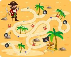 söt tecknad labyrint spel mall vektor