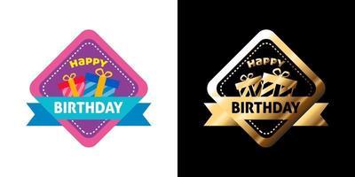 Grattis på födelsedagen klistermärke vektor
