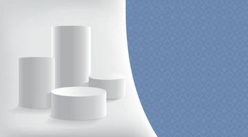 abstrakt mit geometrischen Formen. weißer Farbhintergrund. Produktpräsentation. Modell Design. Vektorillustration vektor