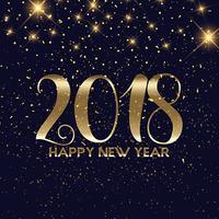 Goldconfetti guten Rutsch ins Neue Jahr-Hintergrund