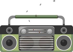Vorderseite des klassischen Radios isoliert vektor