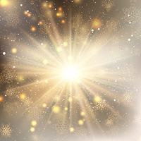 Gyllene snöflingor bakgrund vektor