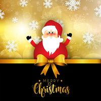 Weihnachten Sankt auf Schneeflockenhintergrund vektor