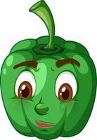 paprika tecknad karaktär med ansiktsuttryck