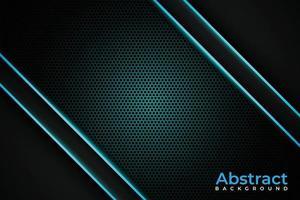 abstrakter blau leuchtender Hintergrund vektor