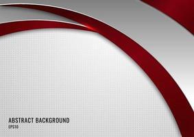 rote und graue Kurve der abstrakten Schablone auf weißem Hintergrund des quadratischen Musters. vektor