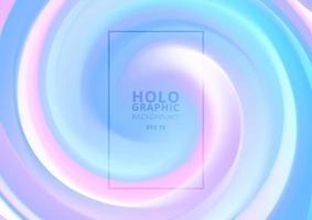 abstrakter holographischer Pastell- und Neonfarbdesignhintergrund. vektor