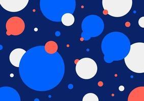abstrakta geometriska cirklar färgglada komposition design på blå bakgrund. vektor