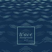 abstrakt blå vatten våg linje mönster perspektiv bakgrund. vektor