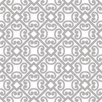 abstrakt blommig asiatisk prydnad. sömlöst geometriskt mönster med virvellinje ornament i orientalisk stil. vektor