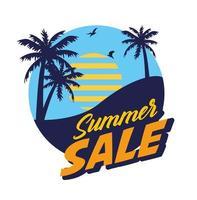 Sommerverkaufsbanner mit Palmen